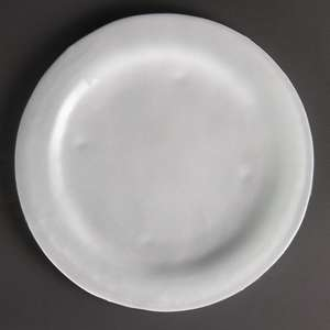 DM366 - Olympia Round Glass Plates Frosted White 270mm - Case  - DM366