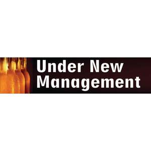 GL102 - PVC Under New Management Banner - Each - GL102