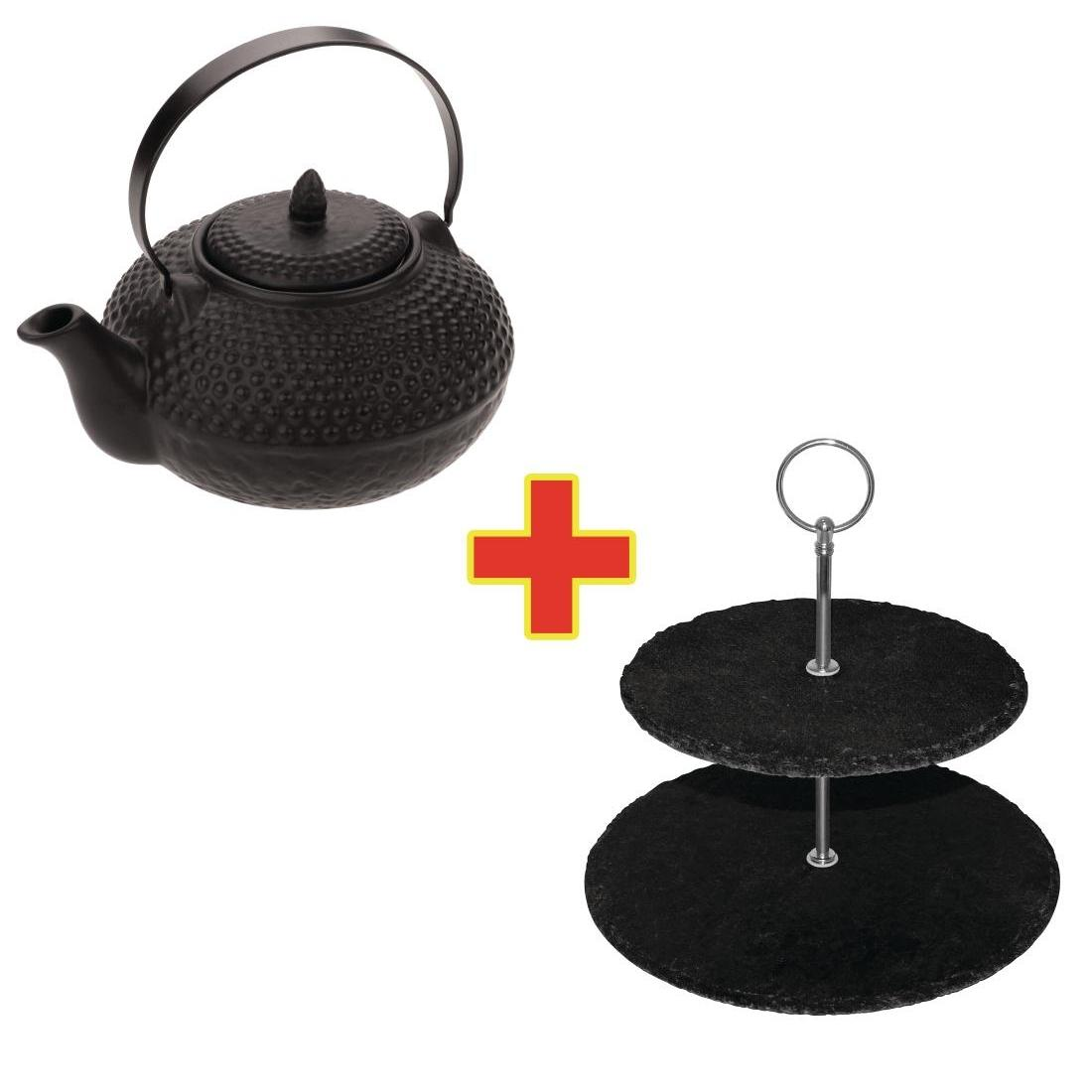 S799 - Special Offer Olympia Oriental Teapot and Afternoon Tea Stand - Each - S799