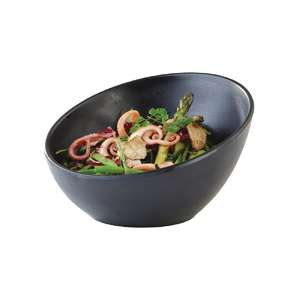 CN076 - APS Zen Melamine Round Sloped Bowl Black 300ml - Each - CN076