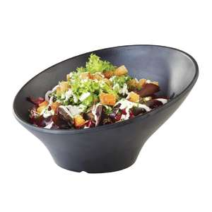 DA293 - APS Zen Melamine Round Sloped Bowl Black 800ml - Each - DA293