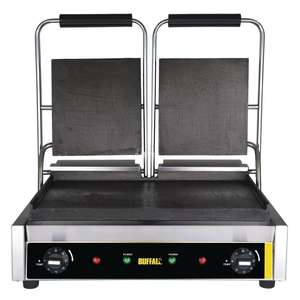 GJ456 - Buffalo Bistro Contact Grill Double Flat - GJ456