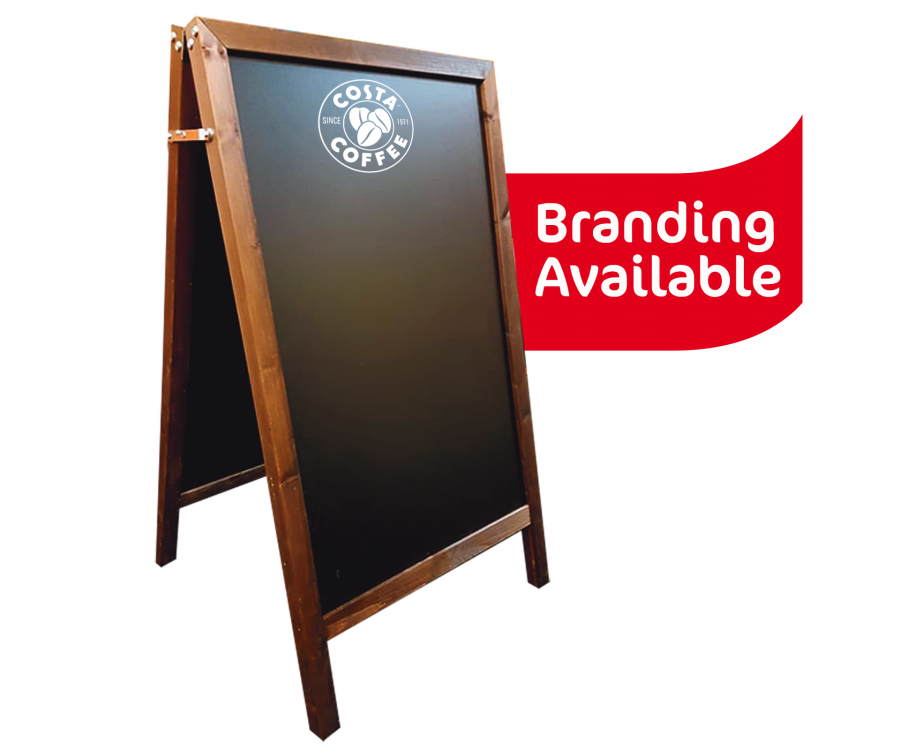STY022 - Wood Frame Blackboard A-Board - Exterior Use - Large - STY022