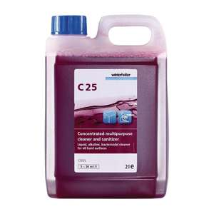 DE512 - Winterhalter C25 Cleaner and Sanitiser Super Concentrate 2Ltr - 2 Pack - DE512