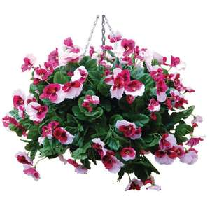 "CG581 - Z-DISCONTINUED 22"" Plain Light Pink Artificial Pansies Ball - Case of 1 - CG581"