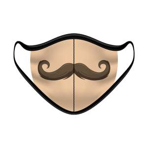 Cloth Face Mask Moustache - Pack of 5 - FACEMASKTASH