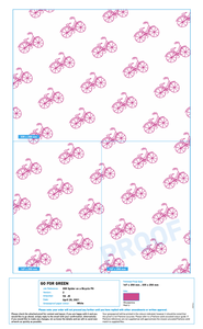 2000 x Spider on a Bicycle Custom Printed Greaseproof Paper Sheets - CSTM-SPD-GREASE
