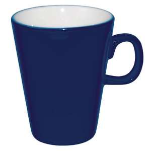 Olympia Cafe Latte Mugs Blue 285ml 10oz