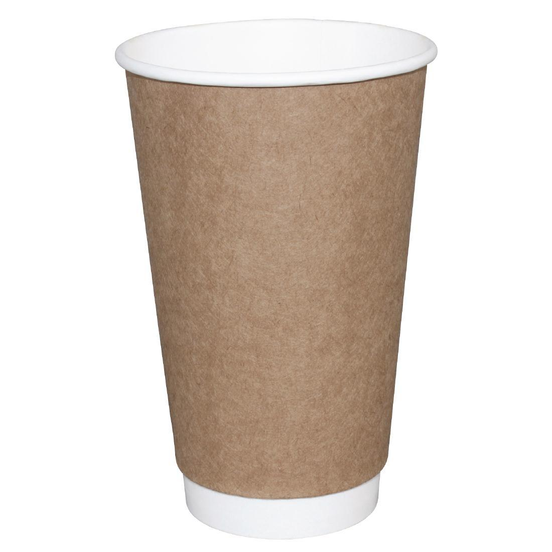 GP438 - Kraft Double Wall 16oz Recyclable Hot Cups Fiesta - Case: 25 - GP438