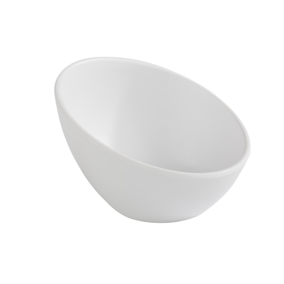 DA296 - APS Zen Melamine Round Sloped Bowl White 150ml - Each - DA296