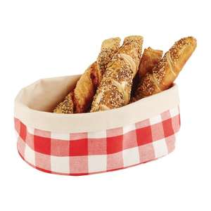 DA658 - APS Bread Basket Oval Large Red - Each - DA658