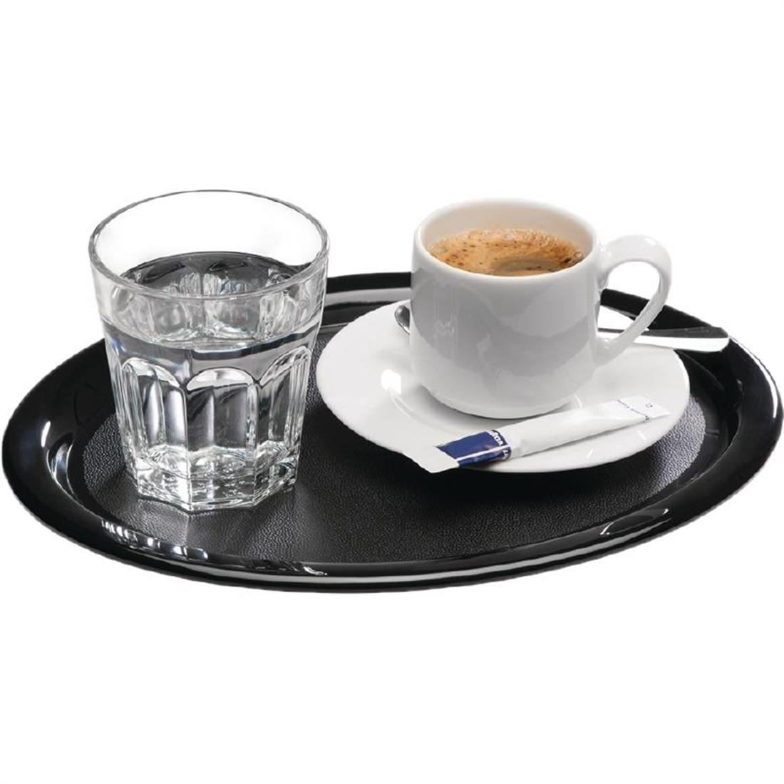 GL623 - APS Melamine Service Tray Black 285mm - Each - GL623