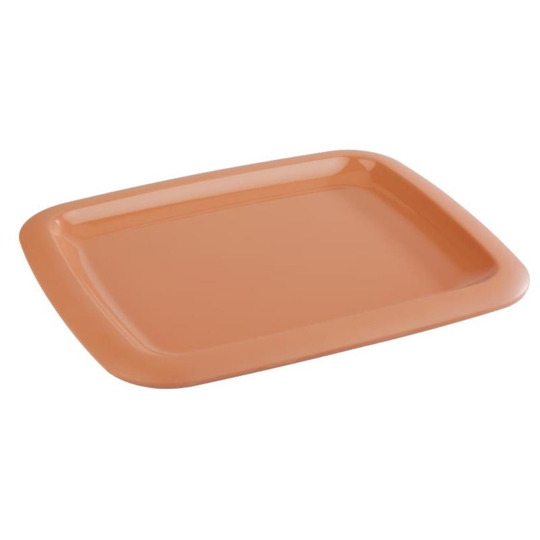 GN571 - Z-DISCONTINUED APS Tierra Terracotta Effect Melamine Tray GN 1/2 - Each - GN571