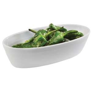 GN593 - Z-DISCONTINUED APS Tierra White Oblong Bowl 170mm - Each - GN593