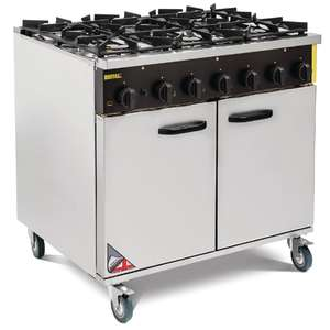 Buffalo 6 Burner Natural Gas Oven Range - CE371-N