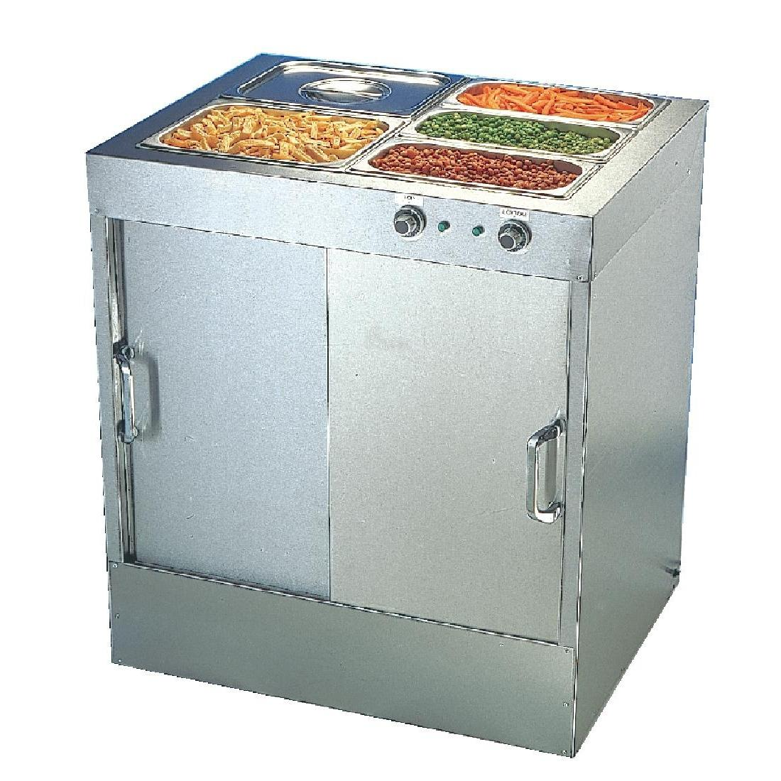 G045 - Buffalo Hot Cupboard with Bain Marie Top 30 plates - G045