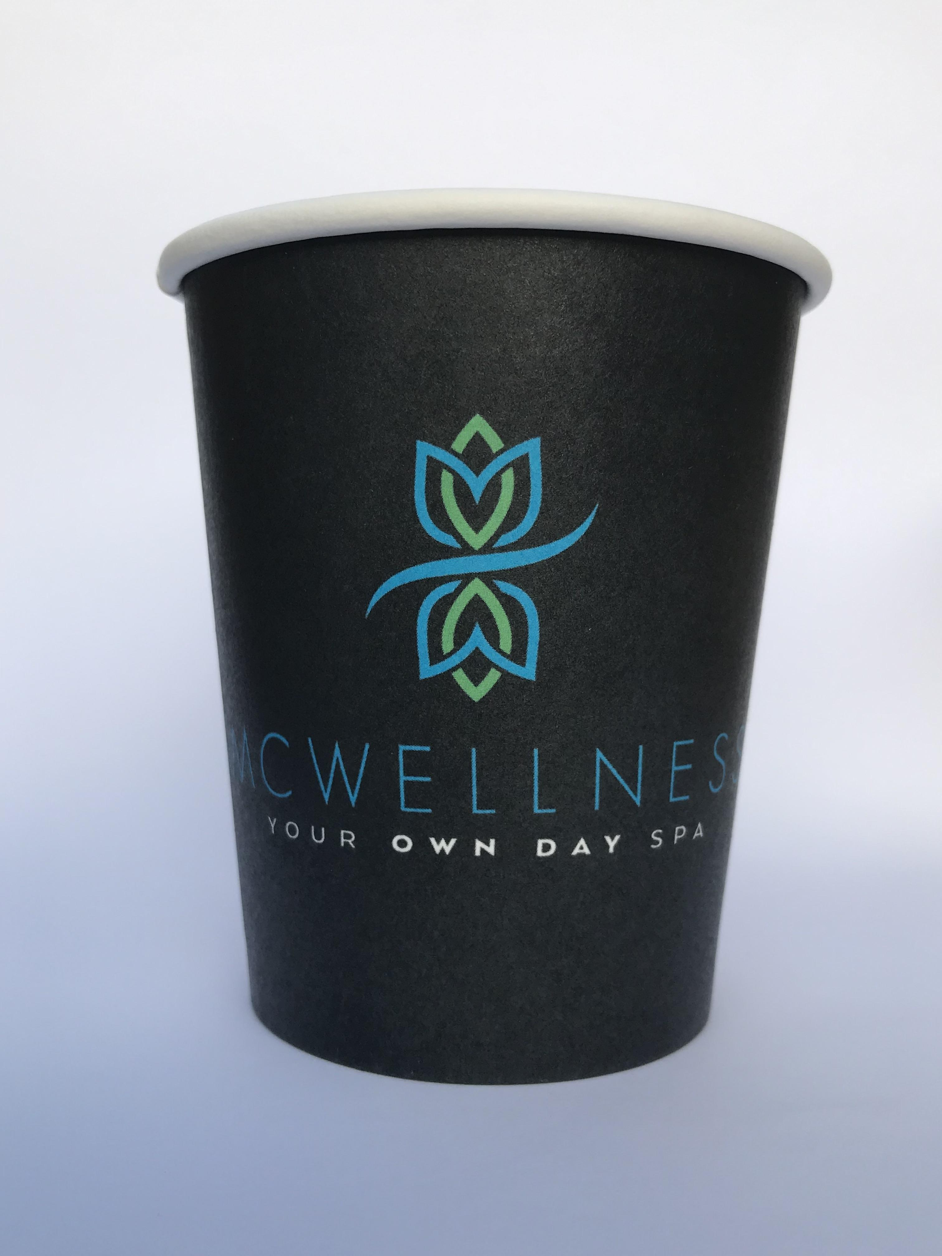 CUSTOM-CUPSSW-8OZ - Custom Printed 8oz Single Wall Paper Cups
