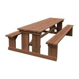 DM989 - Z-DISCONTINUED Bolero Walk in Picnic Bench Rustic Brown 8ft - Case of 1 - DM989