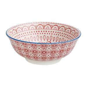DR772 - Olympia Fresca Large Bowls Red 205mm - Case  - DR772