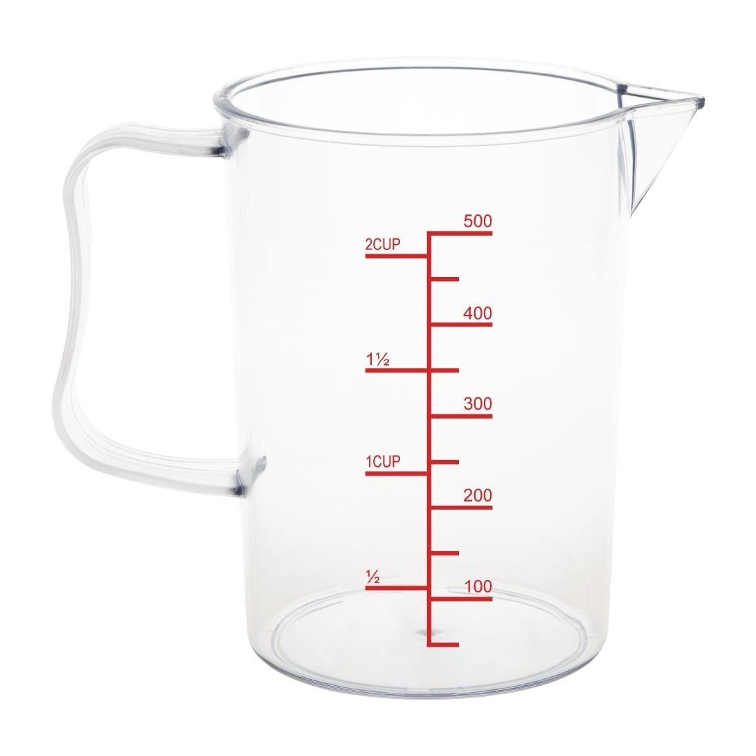 CG970 - Vogue Polycarbonate Measuring Jug 500ml - Each - CG970