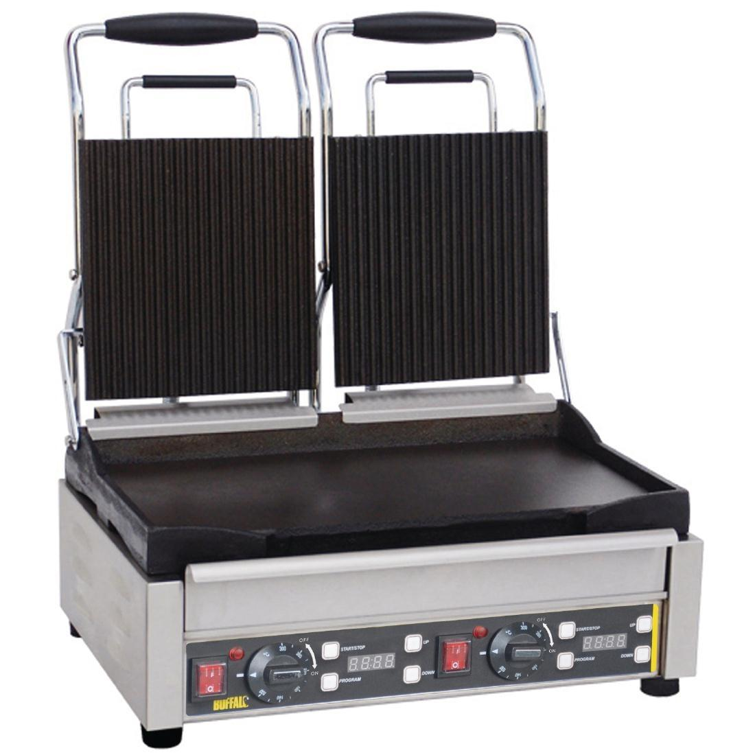 L554 - Buffalo Double Contact Grill Ribbed Top - L554