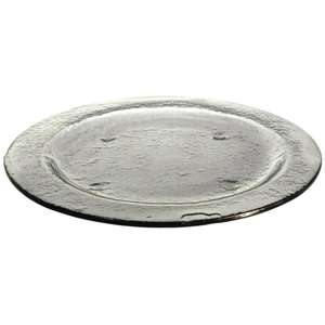 DM367 - Olympia Round Glass Plates Smoke Grey 270mm - Case  - DM367