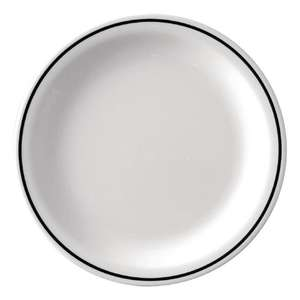 DP983 - Kristallon Black Band Melamine Side Plates 160mm - Case 12 - DP983