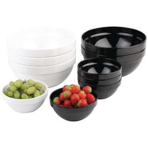 GC934 - APS Frames Black 2.5Ltr Melamine Bowl - Each - GC934