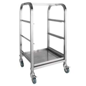 CF918 - Vogue Glass Racking Trolley 3 Tiers 400mm - Each - CF918