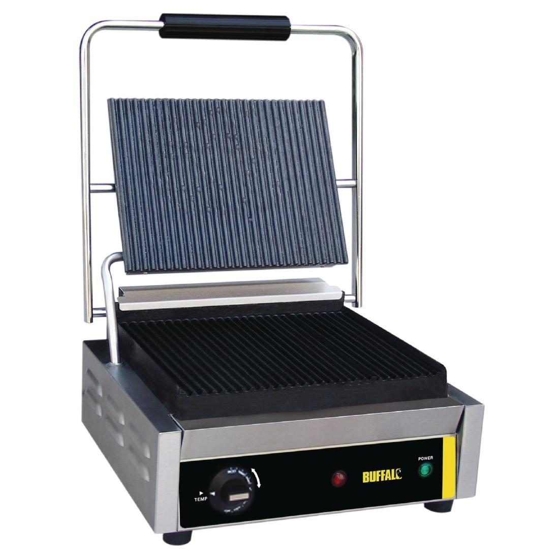 DM903 - Buffalo Bistro Contact Grill Large Ribbed - DM903
