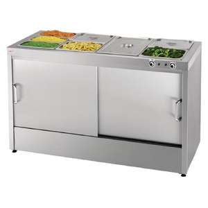 G499 - Buffalo Hot Cupboard with Bain Marie Top 66 plates - G499