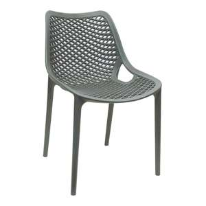 DE337 - Bolero Anthracite PP Mesh Side Chair - Case of 4 - DE337