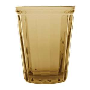 CR827 - Olympia Cabot Panelled Glass Tumbler Amber 260ml - Case 6 - CR827