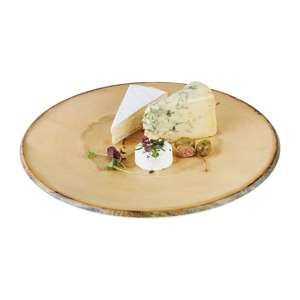CS096 - APS Timber Round Melamine Platter 350mm - Each - CS096