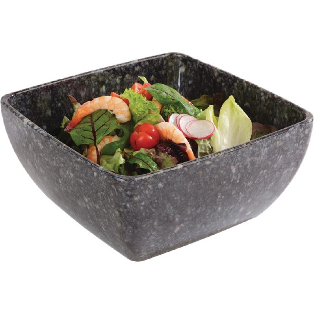 GL606 - Z-DISCONTINUED APS Granite Effect Melamine Tray GN 1/2 - Each - GL606