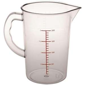 CG972 - Vogue Polycarbonate Measuring Jug 2Ltr - Each - CG972