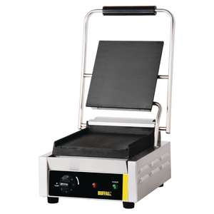 Buffalo Bistro Contact Grill Single Flat Plate - GJ454