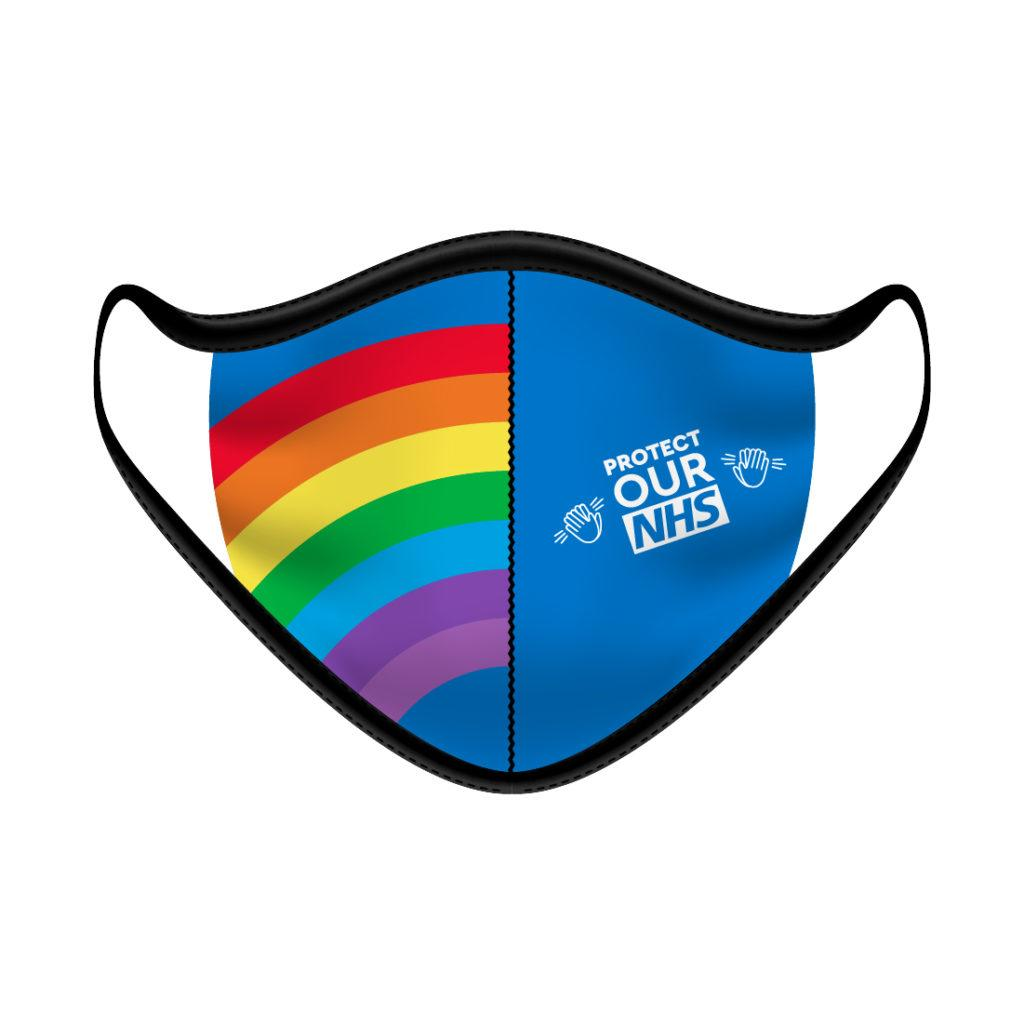 Cloth Face Mask Protect Our NHS Rainbow - Pack of 5 - FACEMASKNHS