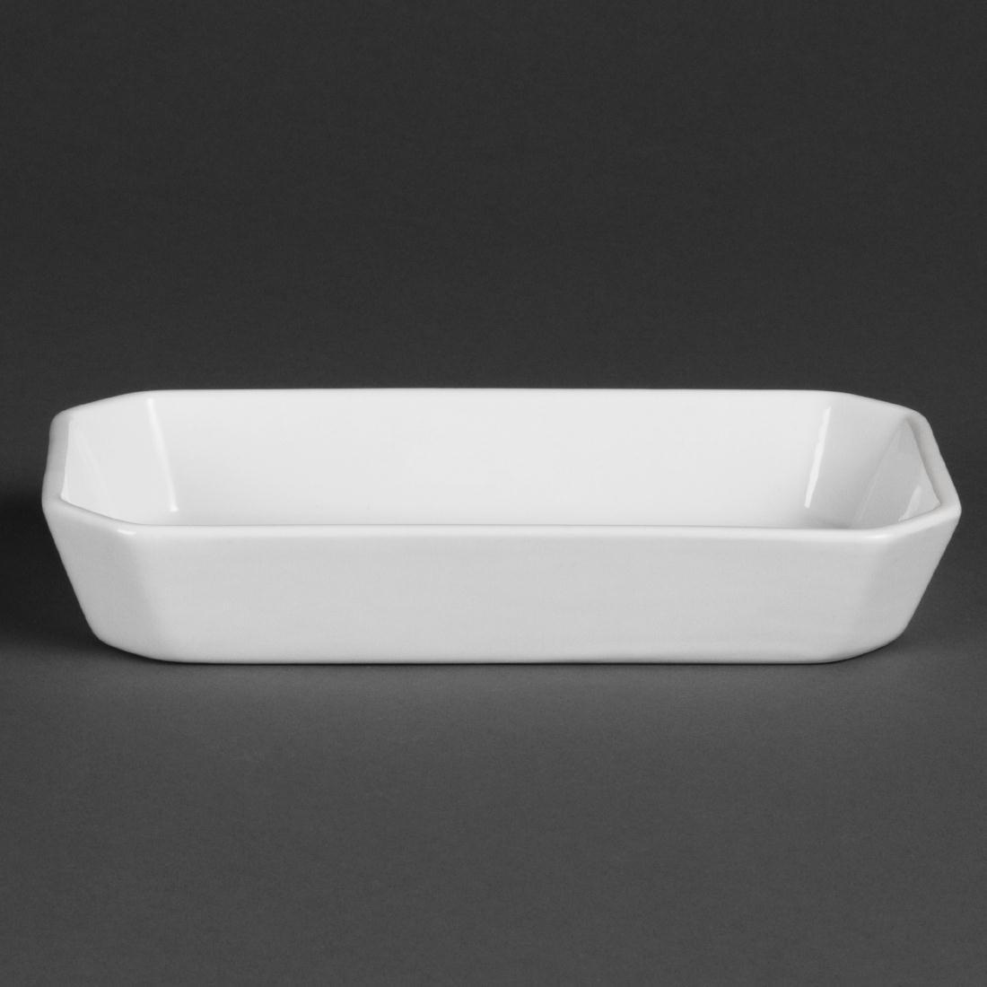 W413 - Olympia Whiteware Oblong Hors d'Oeuvre Dishes 213mm - Case 6 - W413