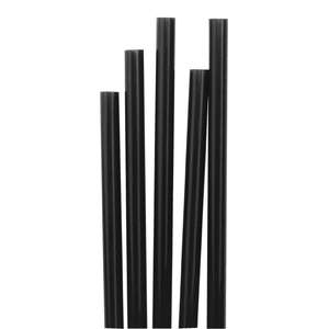 CE313 - Fiesta Short Black Cocktail Stirrer Straws - Case: 1000 - CE313