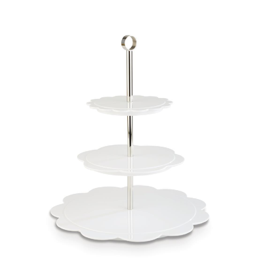 DE549 - APS+ Bakery Afternoon Tea Stand White - Each - DE549