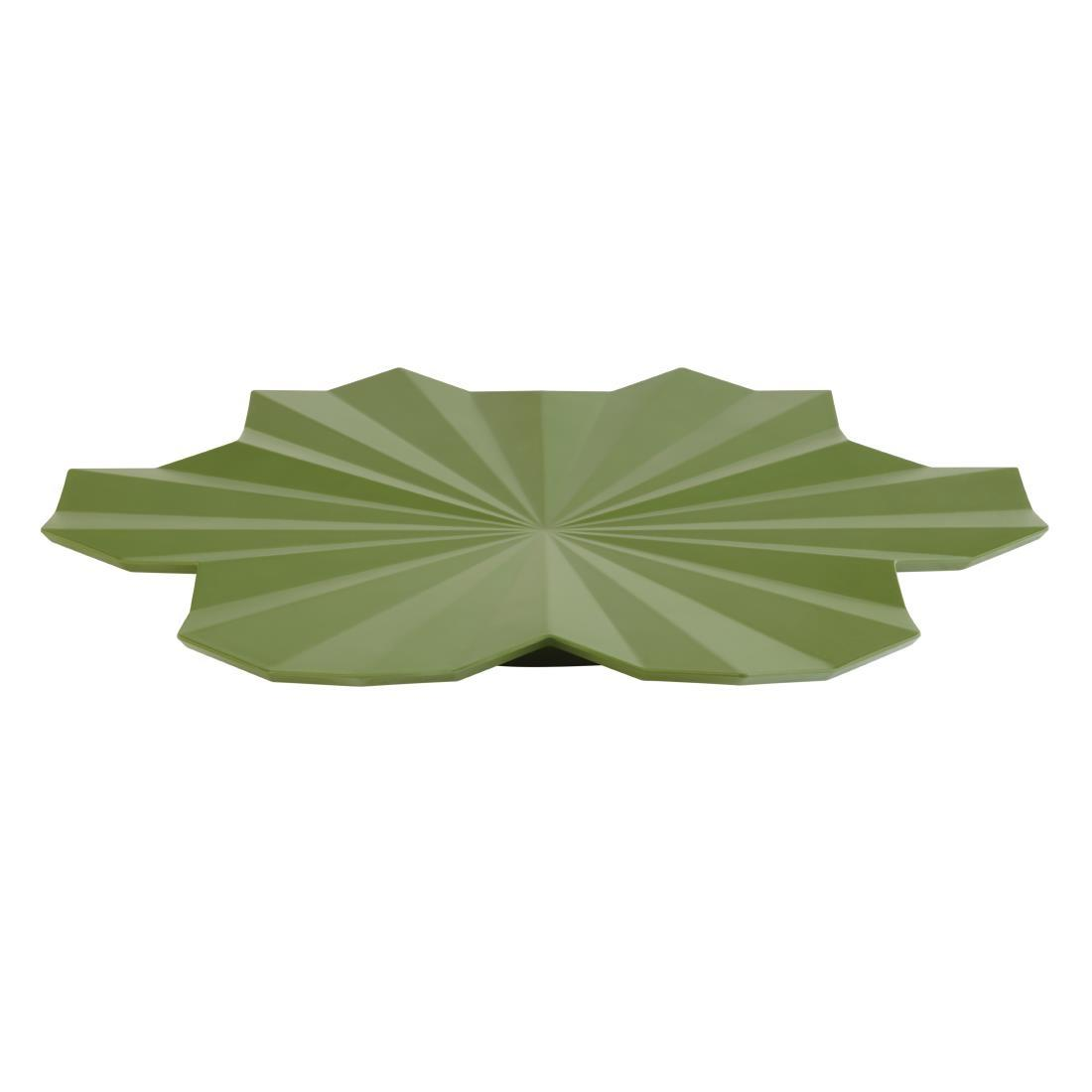 DT796 - APS+ Lotus Leaf Platter Dark Green 465mm - Each - DT796