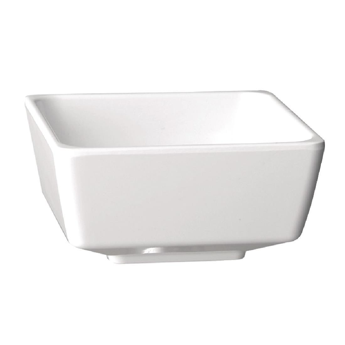 GF094 - APS Float White Square Bowl 5in - Each - GF094
