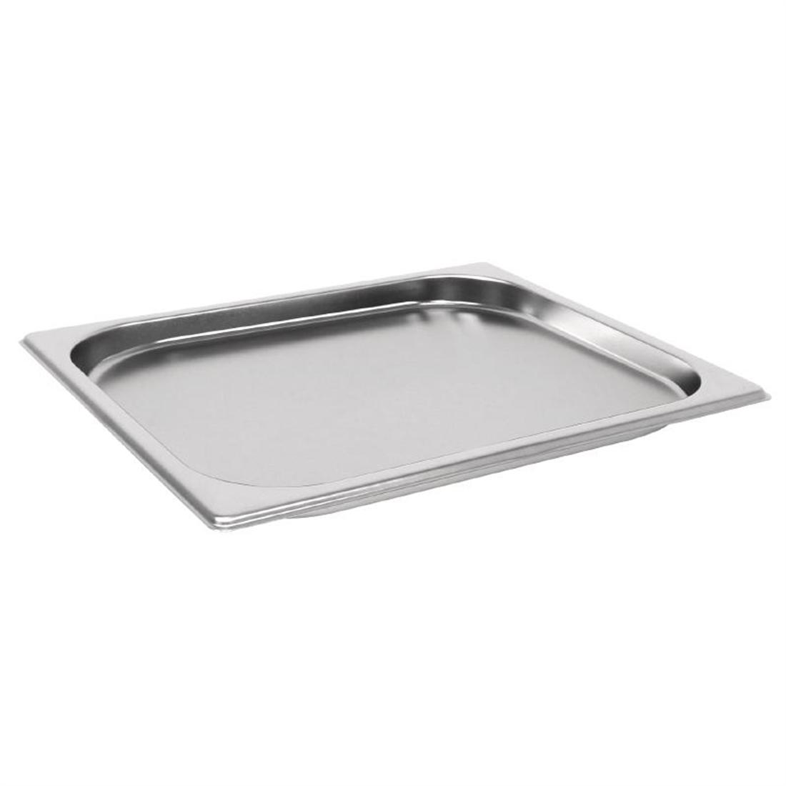 GM320 - Vogue Heavy Duty Stainless Steel 1/2 Gastronorm Pan 20mm - Each - GM320