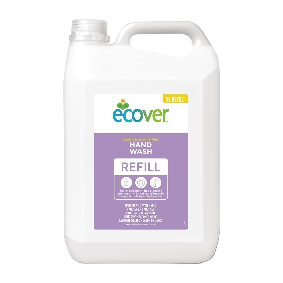 FC469 - Ecover Perfumed Liquid Hand Soap Lavender 4 x 5Ltr (4 Pack of 20Ltrs) - FC469