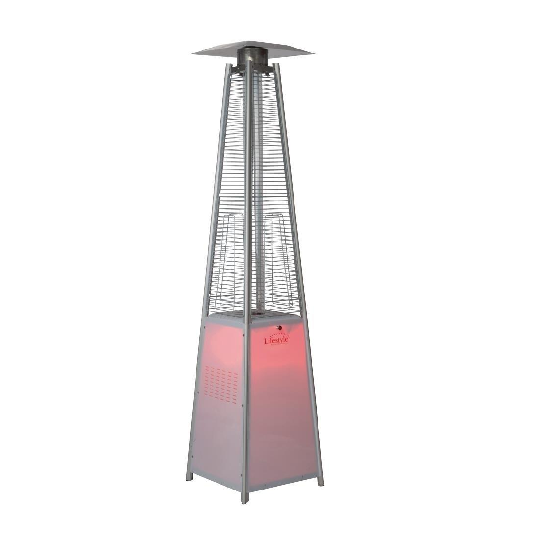 GR336 - Lifestyle Tahiti LED Flame Stainless Steel Patio Heater 13kW - Each - GR336
