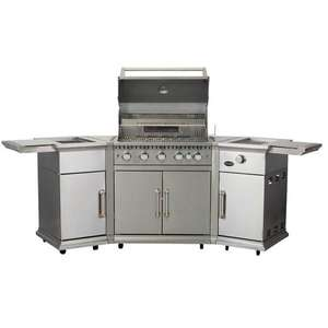 CS408-RC - Lifestyle Bahama Island Gas BBQ c/w Rotisserie & Cover LFS680P - CS408-RC