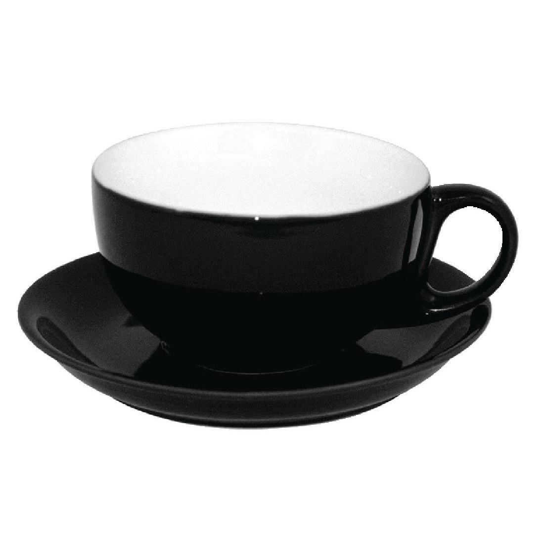 U865 - Olympia Cafe Cappuccino Saucers Black - Case 12 - U865