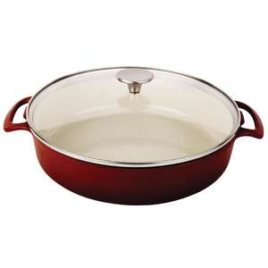 CF632 - Vogue Round Shallow Casserole Dish Red 3.5L - Each - CF632