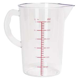 CG973 - Vogue Polycarbonate Measuring Jug 3Ltr - Each - CG973